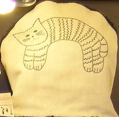 Embroidered Cat Tea Cosy (Blackheathens) Tags: cat cozy kitten tea embroidery craft sew mum cosy teacosy teacosies blackheathens