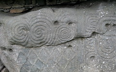 Megalithic spiral and lozenge patterns