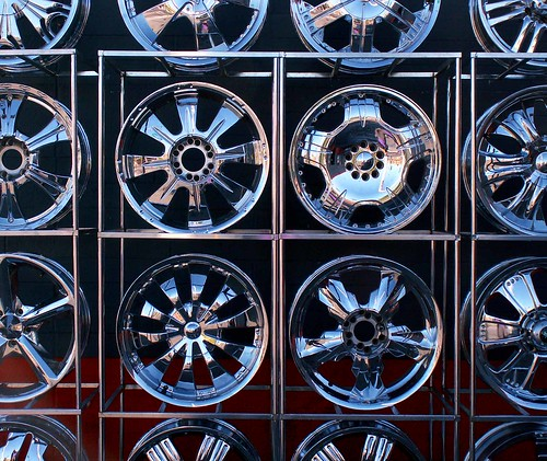 Chrome Wheel Wall
