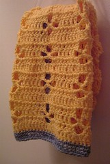 Crocheted hand towel