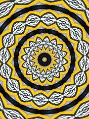 Mandala yellow (Marco Braun) Tags: yellow photoshop jaune kaleidoscope mandala amarillo gelb dogen concentric kaleidoscopes cercle  kreis circel kaleidoskop cercles kreise  circels flavus     kalidoscope konzentrisch concentrique kaleidoscopesonly