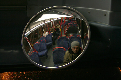 Self-portrait in a bus 2