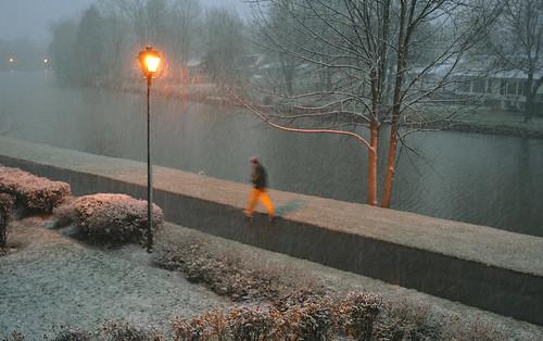 It is snowing!