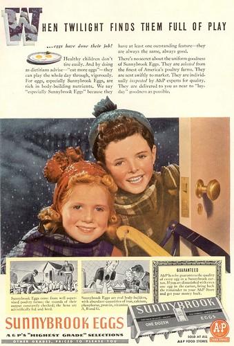 Sunnybrook eggs 1939