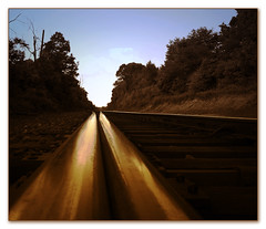 ~ about going ~ (Shari DeAngelo) Tags: traintracks nikond200 18200mmf3556gvr explored lotsoprocessing