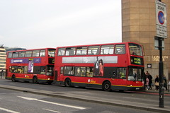 London - UK: Double decker red bus