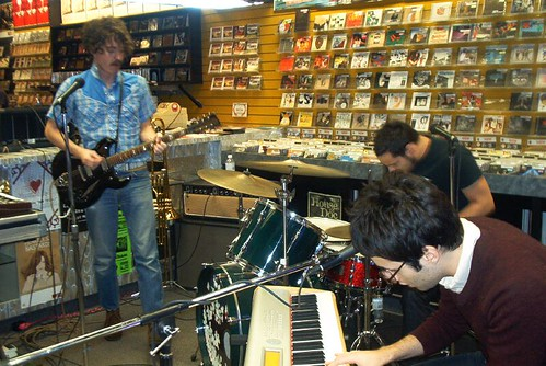 Meligrove Band live! in-store performance at Music Trader on November 6 2006