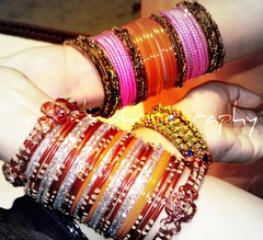 Bangles ...! (m) Tags: life wedding friends pakistan fun pakistani joys mehndi bangles dholki chooriyan lifescolorful