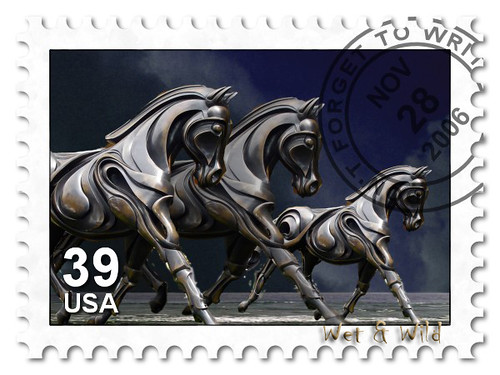 Stamp Philatelic - Stamp with horse image