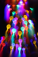 Cosmic Jellyfish! (jah~) Tags: christmas abstract color tree lensbaby catchycolors lights interestingness movement interestingness1 kinetic 4sale artisticexpression jahdakine bellowstweak cosmicjellyfish cosmictadpoles