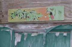 addict (abandonview) Tags: streetart graffiti cigarette peelingpaint streetinstallation abdn abandonview