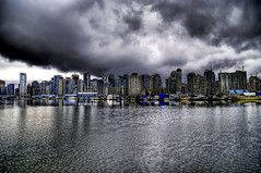 Evil Clouds Over Vancouver (Stuck in Customs) Tags: city canada storm vancouver clouds nikon skyscrapers britishcolumbia d2x evil hdr d2xs stuckincustoms imagekind treyratcliff focuspocus stuckincustomsgooglescreensaver