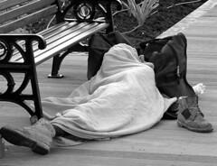 B'N'B (Bed on Boardwalk) (ebonyseptember) Tags: male am homeless forsakenpeople unhoused bridgetownswaterfront