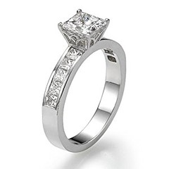 Diamond Engagement Ring with Sidestones 950 Platinum 1.28 ctw Certified Princess Cut 1/2 ct Center Stone H Color VS2 Clarity (goodies2get2) Tags: 1000ampabove amazoncom bestsellers diamond platinum