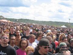 Ozzfest 2004 Alpine Valley second stage crowd