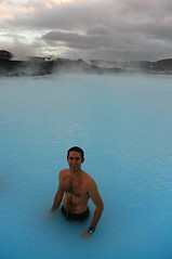 Jordan in the blue lagoon (Pat Rioux) Tags: hot water iceland chesthair reykjavik hotspring geothermal bluelagoon islande psoriasis
