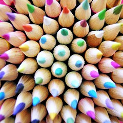 All the Colours You Need (steph.A) Tags: school colour macro pencils rainbow pattern penpencilbrushink topf150 gettingready colouredpencils nikonstunninggallery auselite macroelite