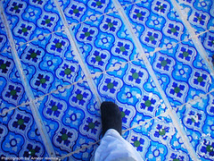 Foot series: Tomb in Umerkot (Ameer Hamza) Tags: foot tomb tiles syed bluetiles mazar blacksocks footseries sufisaints saintsofsindh thetravellingfeet