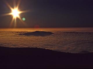 View from Mauna Kea towards Haleakala