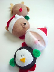 Too Cute!!! ♥ (Warm 'n Fuzzy) Tags: santa xmas holiday cute reindeer penguin teddy brooch craft kawaii accessories etsy magnet warmnfuzzy warmnfuzzynet