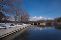 Hog's Back Bridge (christopherdeacon) Tags: afternoon bridge outdoors river winter