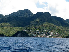 Canaries, St Lucia from the sea. This picture gives you an idea as to the terrain.