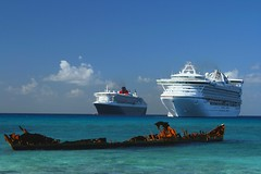 Future and the past (janusz l) Tags: cruise sea wallpaper vacation beach island star interestingness ship elizabeth grand georgetown queen cruiseship caribbean cayman wreck princes caymanislands qe2 grandcayman queenelizabeth janusz littlestories januszleszczynski picswithsoul mastersoflifegallery wallpaperbeach