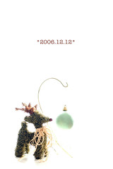 My advent calendar *2006.12.12* (yoshiko314) Tags: christmas ball reindeer advent calendar ornament simple whiteground 20061212