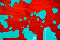 archipelago (♫ marc_l'esperance) Tags: blue shadow red abstract color colour green texture colors contrast canon eos saturated aqua peeling paint colours bright decay abstractart © shapes 2006 surface textures 10d outline oversaturated allrightsreserved textured cml supersaturated aplusphoto canonef100300mmf56