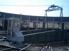 会津若松駅の裏側
