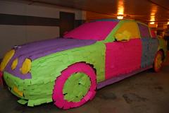 Post-It Jaguar (Scott Ableman) Tags: pink car topv111 topv2222 topv555 topv333 automobile colorful parkinggarage topv1111 topv999 postit topv5555 topv777 jaguar psychedelic postits topv3333 topv4444 hubcap stickynotes topv8888 topv6666 topv7777 officeprank stype pinkwalls