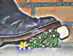for the lonely people (weef kichards) Tags: christmas people tree shoe for all lonely xmass happyhappyjoyjoy trample themostwonderfultimeoftheyear