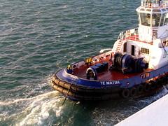 New Zealand - Tauranga (Chris&Steve) Tags: newzealand port island harbor pier boat harbour vessel southpacific northisland tugboat tug nautical shipping aotearoa atsea tauranga 10millionphotos tematua v300i