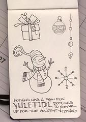 Yuletide Doodles (renmeleon) Tags: christmas winter art moleskine journal reporter yule doodles ria renmeleon renfolio