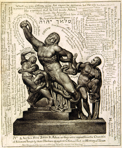 THE LAOCOON AS JEHOVAH WITH SATAN AND ADAM