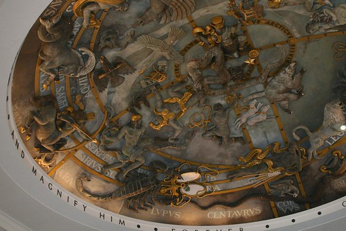 Ceiling in the chapel