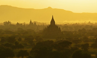 Golden Twilight at Bagan
