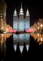 Temple Square (LeggNet) Tags: christmas reflection night temple lights reflecting utah pond bravo saltlakecity mormon slc templesquare lds leggnet legg leggnetcom specobject richlegg richlegg wwwleggnetcom