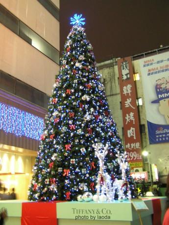 敦南SOGO前的TIFFANY聖誕樹