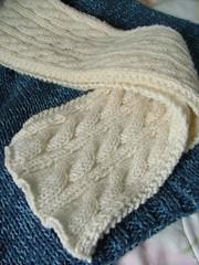 handknit gift scarf
