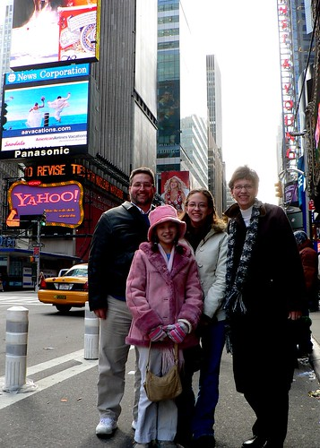 Mahaffies on Times Square