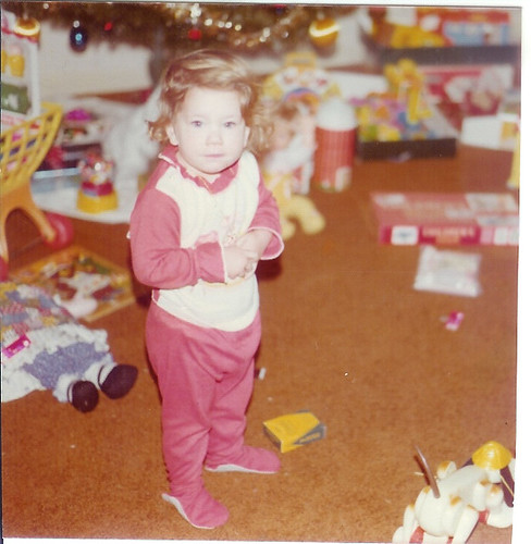 Lisa on Christmas Morning, 1977