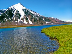 Karomber Lake, Pakistan (Kaafoor) Tags: trip travel blue pakistan summer lake beauty north visit best valley pakistani adeel distortions iloveit northernarea karambar theworldsbest greaan pakistaniphotographer karombar karomber karachite ilovetraveling ihavebeentothisplace height4272m approxlength39km width2km averagedepth52m latituden36deg530326 longitudee73deg424403 korambar karambarlake