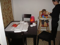 New Table and Holden Eating (inkedmn) Tags: home furniture holden joana