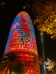 Torre Agbar (Xavier Bayod) Tags: barcelona tower architecture night torre jean olympus novel catalunya xavier 2007 agbar capdany e500 xbf bayod xavierbayod xavierbayodfarr