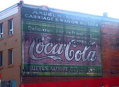 5 cents a Coke!, King St., Hamilton, ON (frank-click!) Tags: streetart ontario canada hamilton kingst winter0607