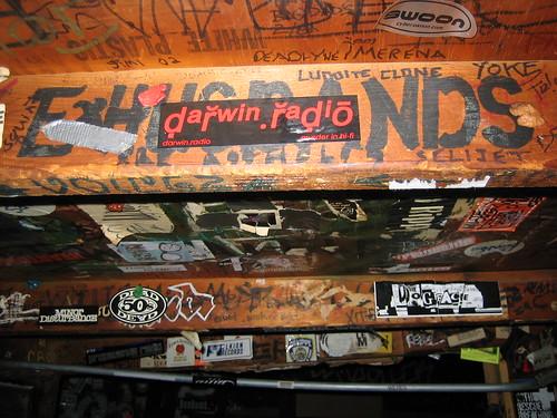[ExHusbands graffiti in CBGB dressing room]