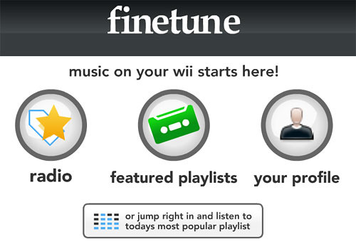 Finetune Player for Wii