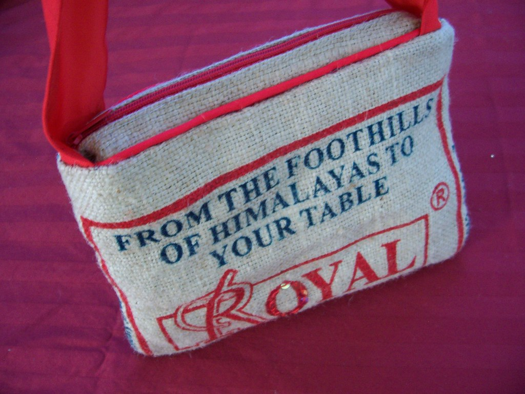 Recycled rice bag purse - Recycled Rice Bag Purse 35