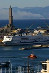 Genova: la Lanterna (guidosky) Tags: italy genova genoa lanterna sea liguria tug ship lighthouse impressedbeauty cityscape